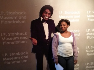 Photo opp with the Godfather of Soul Mr. James Brown.   Exhibit at SC State